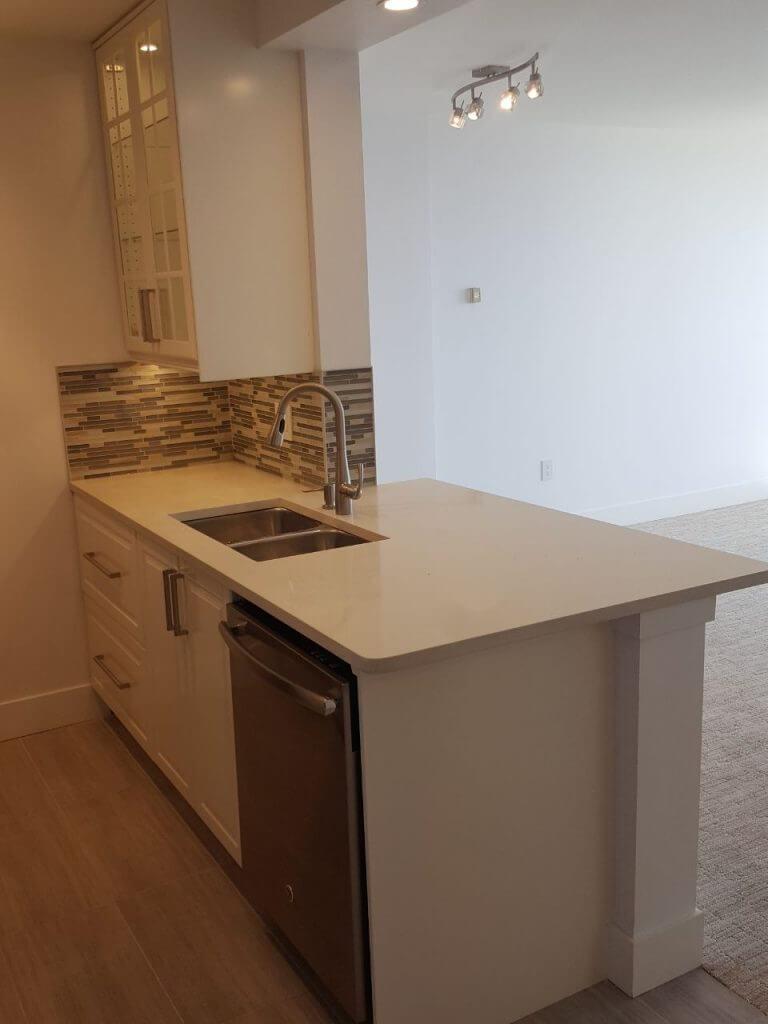 renovating kitchen